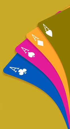 Aces on a gradient background photo