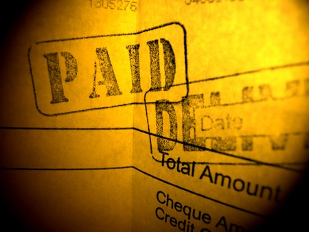 Close up of financial Invoice photo