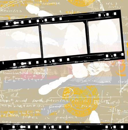Close up of vintage movie film strips Stock Photo - 8178250