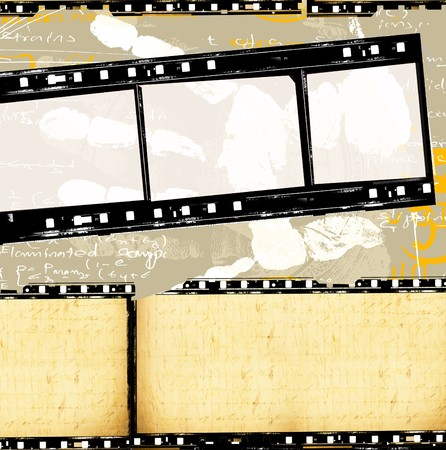 Close up of vintage movie film strips Stock Photo - 8401601