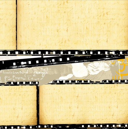 Close up of vintage movie film strips Stock Photo - 8178247