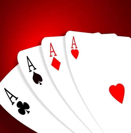 playing with money: Aces on a gradient background Stock Photo