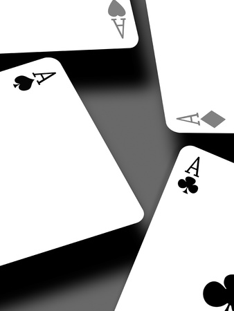 Aces on a gradient background Stock Photo - 8446926