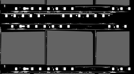 Close up of vintage movie film strips Stock Photo - 8462970
