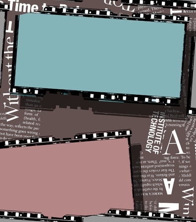 Close up of vintage movie film strips Stock Photo - 8462968
