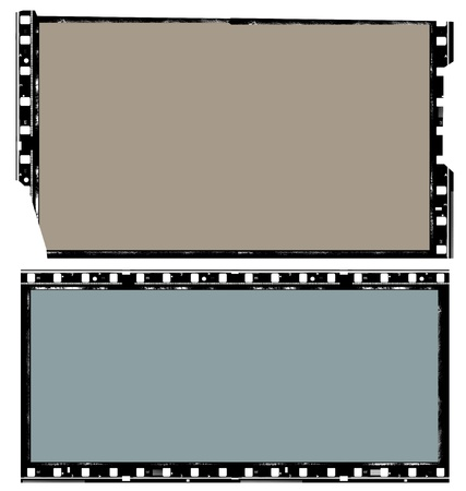 Close up of vintage movie film strips photo