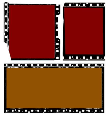Close up of vintage movie film strips photo