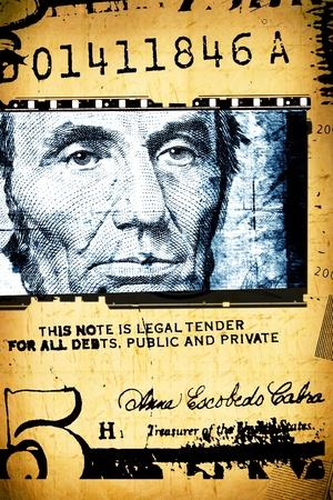 Abstract Amerikaanse dollar voor achtergrond Stockfoto - 8478094