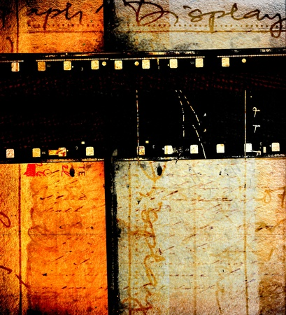 movie pelicula: Detalle de tiras de pel�cula pel�cula vintage