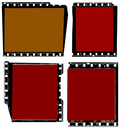 photo shoot: Close up of vintage movie film strips Stock Photo
