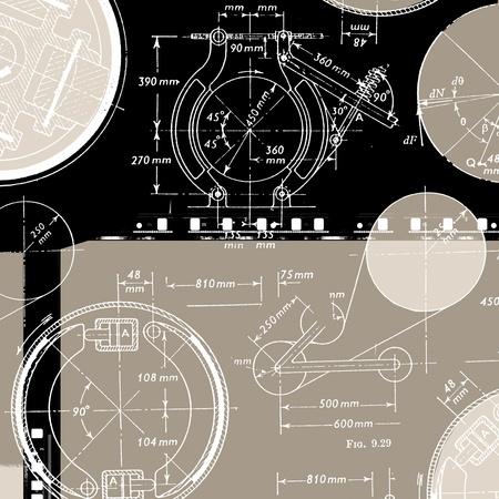 Electronic engineering illustration for background illustration