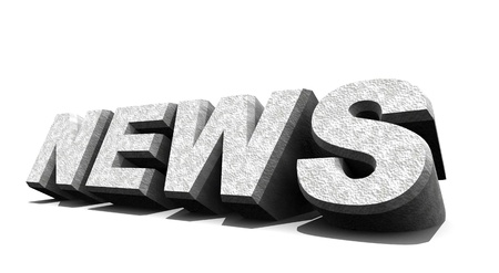 News over white ,3D art Stock Photo - 8623105