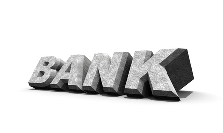 Bank word , 3d animation art