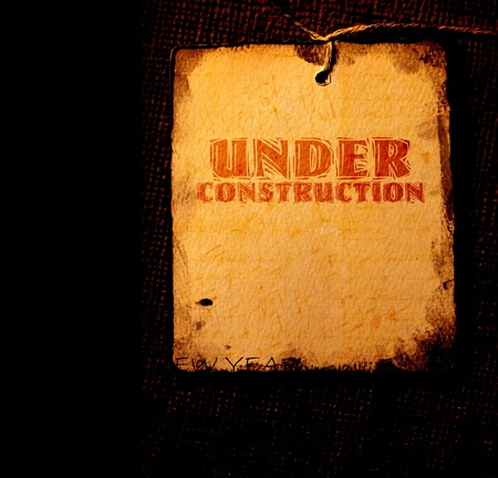 Under construction with  grunge  background Stock Photo - 8623110