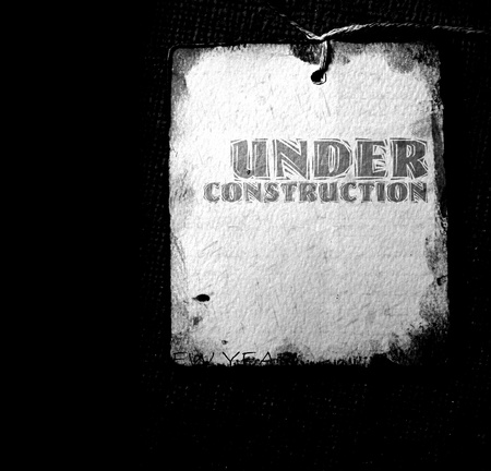 Under construction with  grunge  background Stock Photo - 8535678