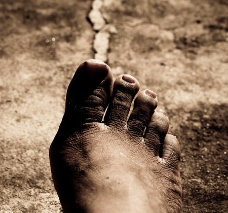 priceless: Close up of Bare Feet Stock Photo