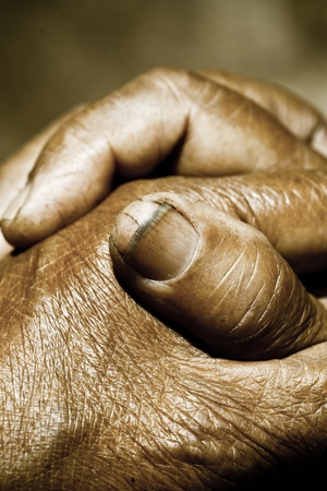 Close up of Praying Hands Stock Photo