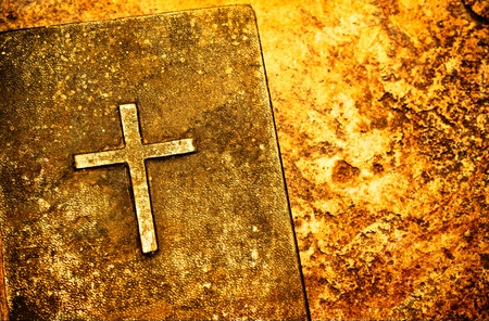 gospel: Close up of Holy Bible Stock Photo