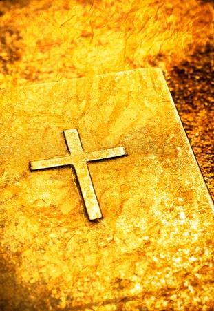 Close-up van de oude heilige bijbel boek