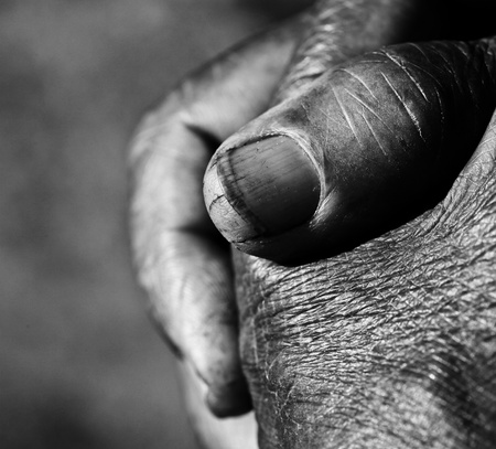 sinner: Close up of Praying Hands Stock Photo
