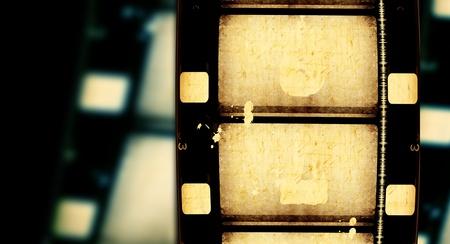 film strip: 8mm Film roll,2D digital art Stock Photo
