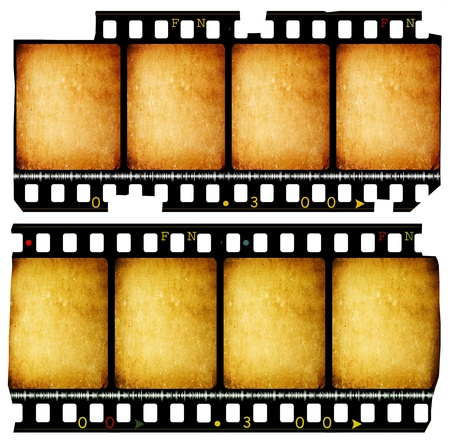 photography frame: Close up of vintage movie film strips Stock Photo