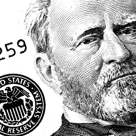 payoff: Abstract US dollar with text for background