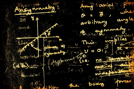 mathematical proof: Close up of mathematical background Stock Photo