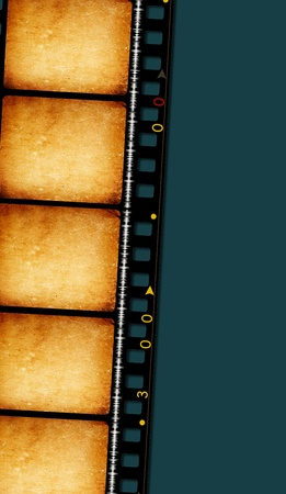 emulsion: Close up of vintage movie film strips Stock Photo