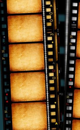 Close-up van vintage film film strips
