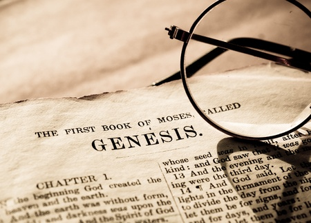 Close up of old Holy bible book Stock Photo - 10764940
