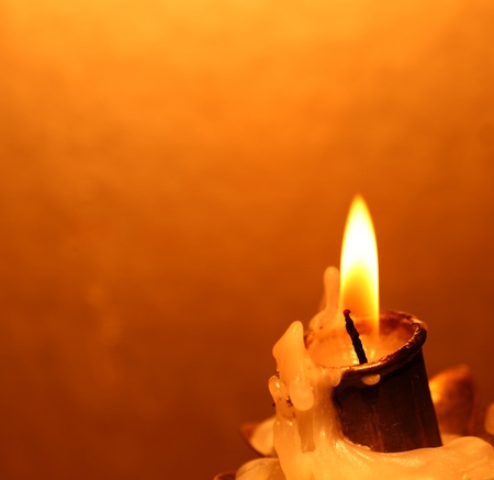 Close up of Candle with red background Stock Photo - 10820178