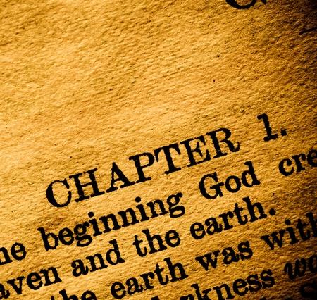 Close-up van oude Holy bijbelboek Stockfoto - 10865319