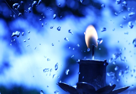 Close up of Candle with red background Stock Photo - 10865316