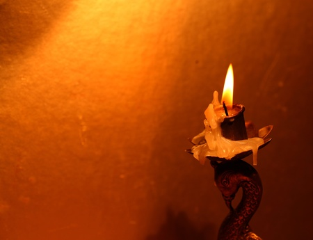 Close up of Candle with red background Stock Photo - 11575909
