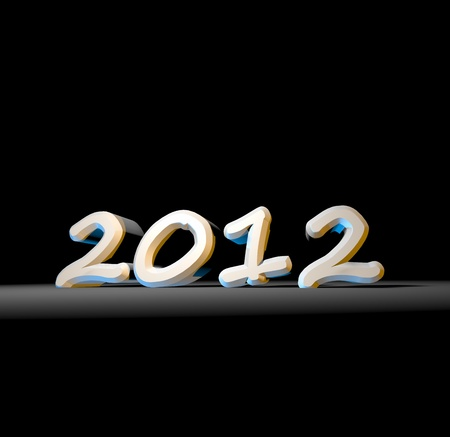 diagonal diary education: 2012 Happy New Year ,3D art Stock Photo