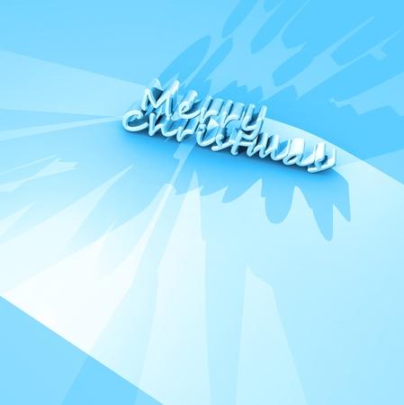 3d art: Feliz Navidad de texto, arte 3D
