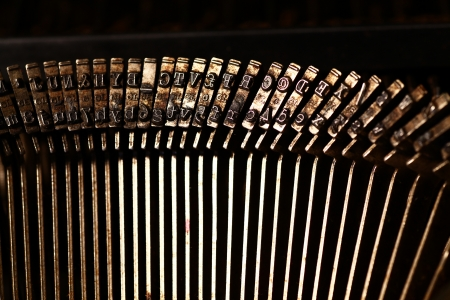 Close up of Typewriter photo