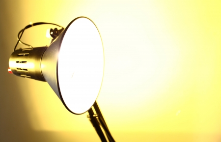 Close up of table retro electric lamp Stock Photo - 14050826