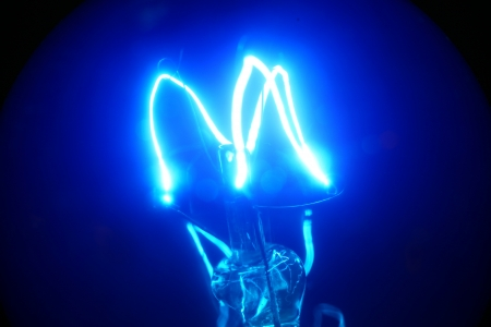 Close up of Tungsten bulb photo
