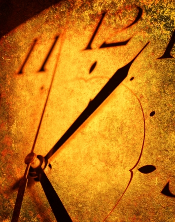 passages: Close up of old clock Stock Photo