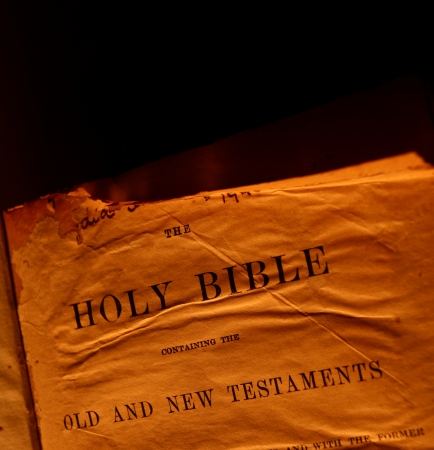 Close up of Holy Bible photo