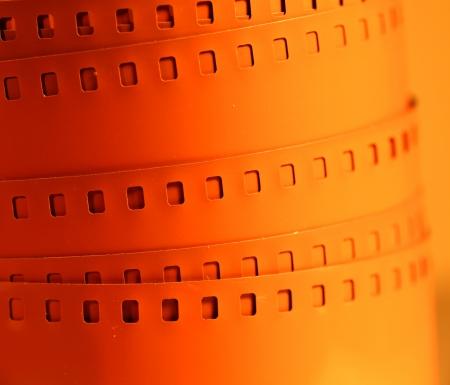 movie film reel: Antiguo de 35 mm de rollo de pel?cula de cine