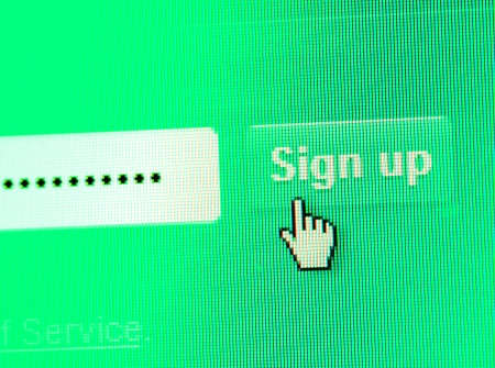 Close up of web Icon on LED screen Stock Photo - 21514592