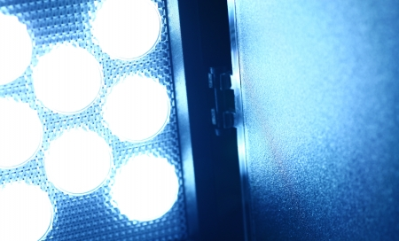 reflectors: Close up of a LED Video Light Stock Photo