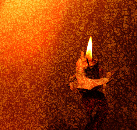 Close up of Candle with red background Stock Photo - 25566880