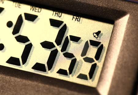 Close up of a Digital clock photo
