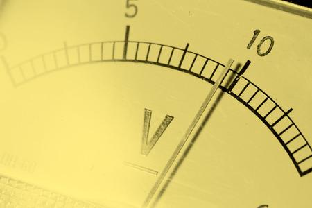 contador electrico: Primer plano de un metro el�ctrico Foto de archivo