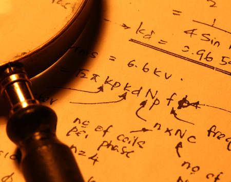 theoretical: Close up of a mathematical background