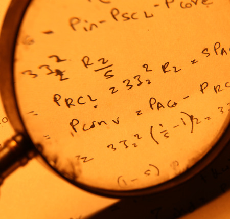 Close up of a mathematical background photo